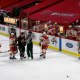 Filip Gustavsson Gets First NHL Win flames try to steal puck